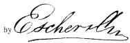 Escher Unterschrift