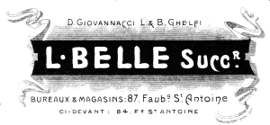 L. Belle letterhead, 28.10.1916