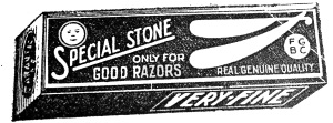 Special Stone only for Good Razors print AD / Special Stone only for Good Razors Werbeanzeige