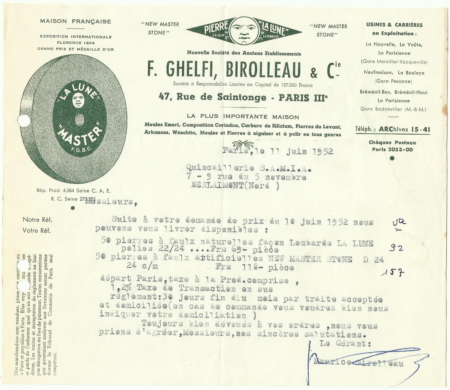 1952 F.Ghelfi, Birolleau & Cie.jpeg