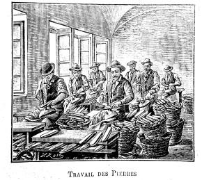FR: Travial des Pierres / DE: Vorbereiten der Sensenwetzsteine / EN: Preparing Scythe Stones